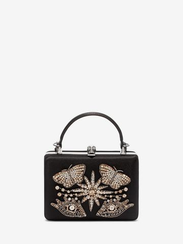 ALEXANDER MCQUEEN Embroidered Case Clutch Seasonal Clutch Woman f