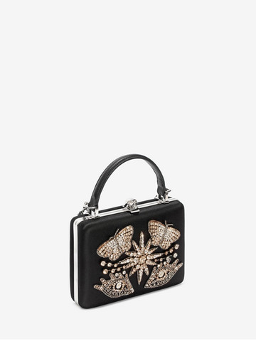 ALEXANDER MCQUEEN Embroidered Case Clutch Seasonal Clutch Woman r