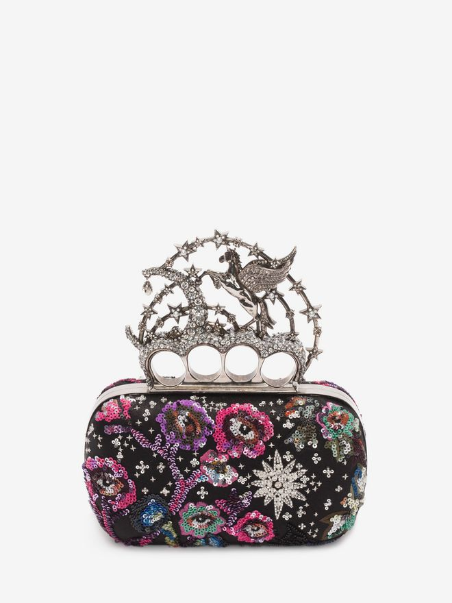 ALEXANDER MCQUEEN Night dream Embroidered Flying Unicorn Knuckle Clutch Clutch D d