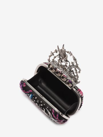 ALEXANDER MCQUEEN Night dream Embroidered Flying Unicorn Knuckle Clutch Clutch D e