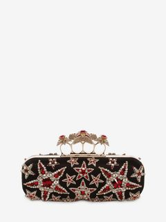 Star Embroidered Knuckle Box Clutch