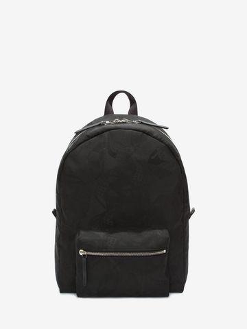 ALEXANDER MCQUEEN Skull Camouflage Jacquard Backpack Backpack Man f
