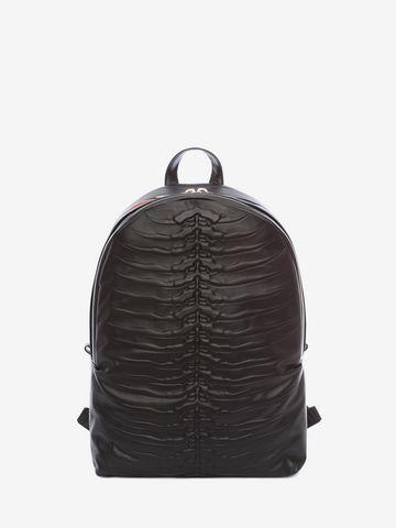 ALEXANDER MCQUEEN Black Rib Cage Backpack Backpack U f