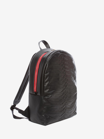 ALEXANDER MCQUEEN Black Rib Cage Backpack Backpack U r