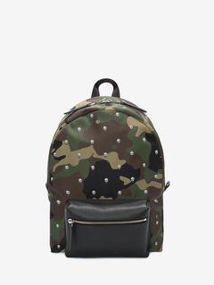 Skull Camouflage Printed Nylon Backpack