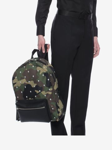 ALEXANDER MCQUEEN Skull Camouflage Printed Nylon Backpack Backpack U a