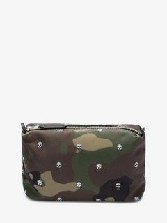 Skull Camouflage Printed Nylon Wash Bag