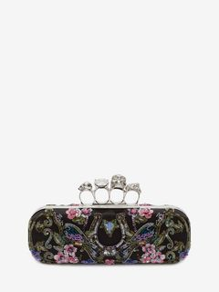 ALEXANDER MCQUEEN Clutch Knucklebox D Embroidered Knuckle Box Clutch f