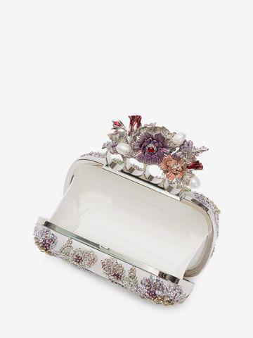 ALEXANDER MCQUEEN Embroidered Flower Four-Ring Short Clutch Clutch D e