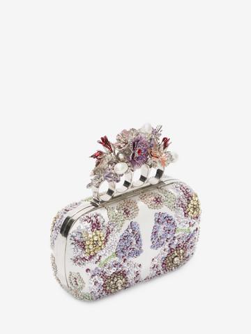 ALEXANDER MCQUEEN Embroidered Flower Four-Ring Short Clutch Clutch D r