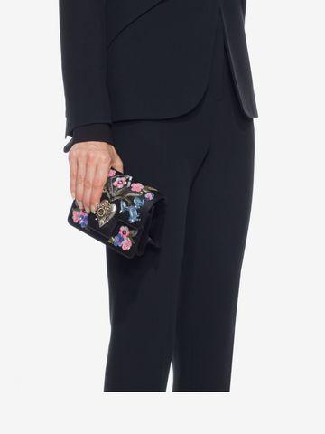 ALEXANDER MCQUEEN Embroidered Heart Mini Chain Satchel Seasonal Shoulder Bags D l