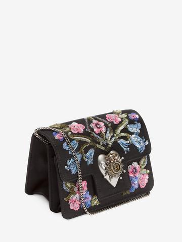 ALEXANDER MCQUEEN Embroidered Heart Mini Chain Satchel Seasonal Shoulder Bags D r