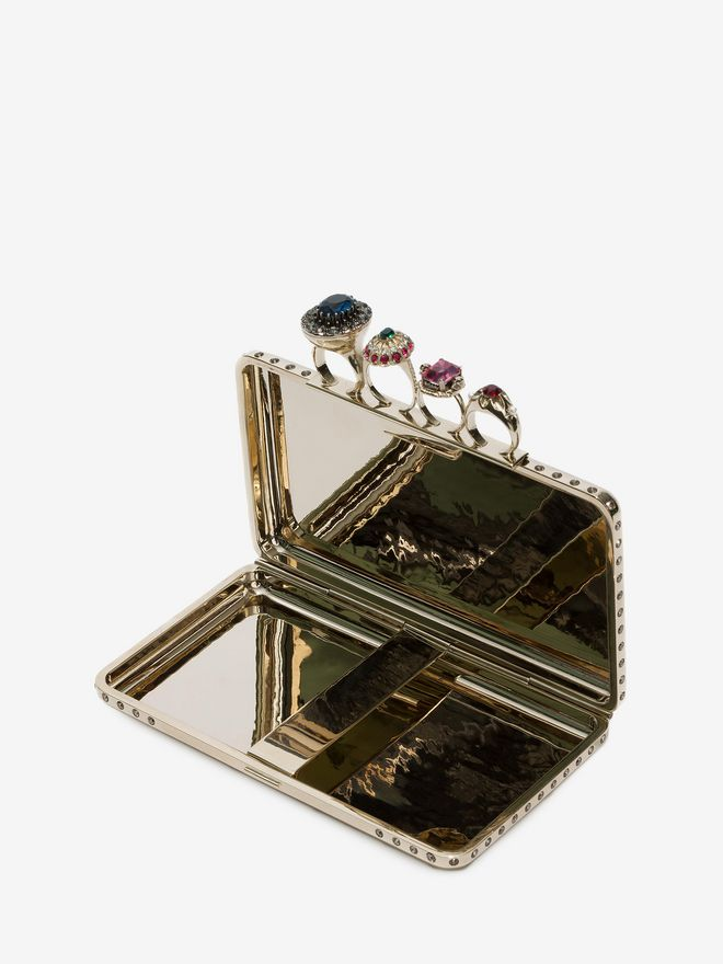 ALEXANDER MCQUEEN Knuckle box case Clutch Seasonal D e