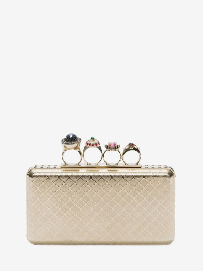 ALEXANDER MCQUEEN Knuckle box case Clutch Seasonal D f