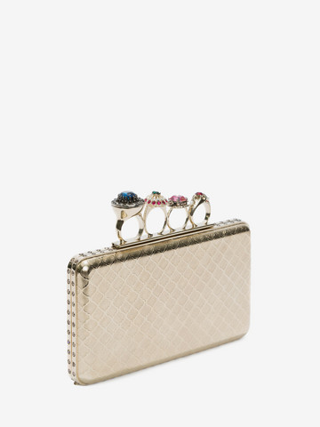 ALEXANDER MCQUEEN Knuckle box case Clutch Seasonal D r