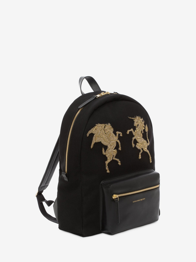 Embroidered Bullion Backpack Alexander Mcqueen