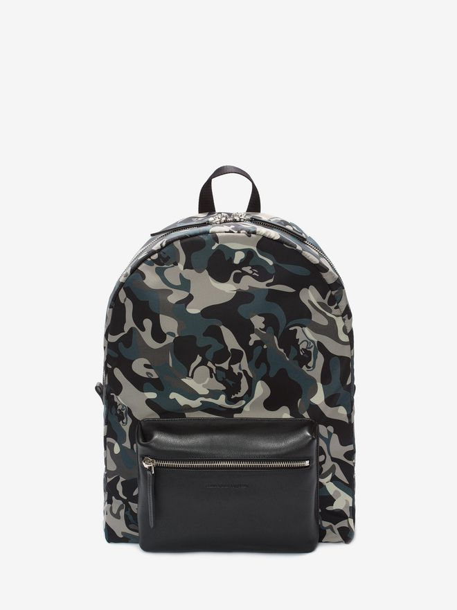 ALEXANDER MCQUEEN Camouflage Print Backpack Backpack Man f