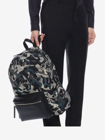 ALEXANDER MCQUEEN Camouflage Print Backpack Backpack Man a