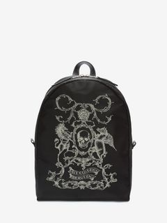 Coat of Arms Printed Backpack