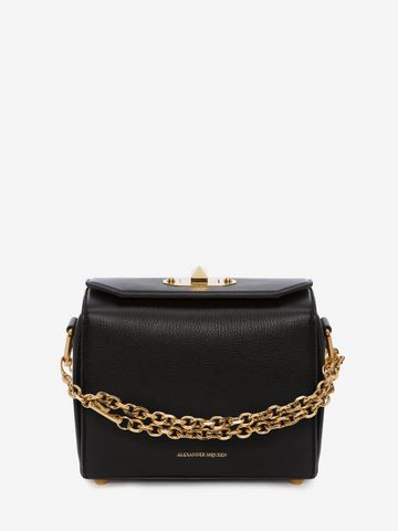 Box Bag 19 Studded Leather Shoulder Bag - Black Alexander McQueen