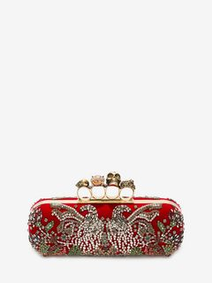 ALEXANDER MCQUEEN Four-Ring Box Clutch D Embroidered Four-Ring Clutch f