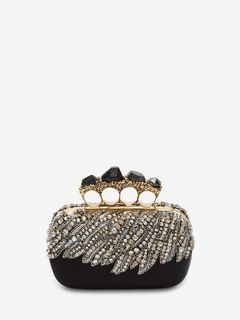 Stone Four-Ring Clutch