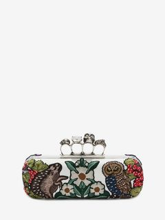 ALEXANDER MCQUEEN Four-Ring Box Clutch D Medieval Four-Ring Clutch  f