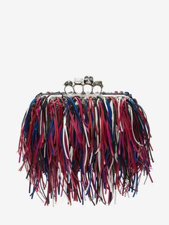 Fringed Four-Ring Clutch