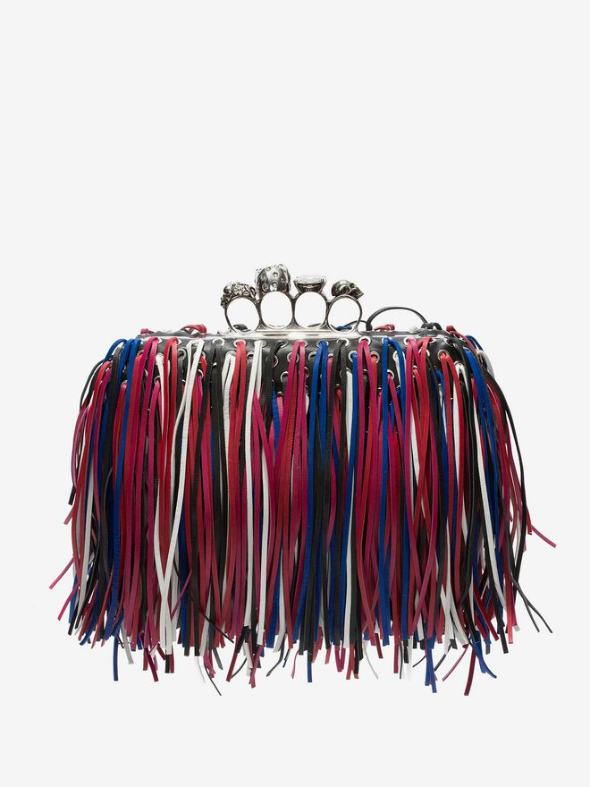 ALEXANDER MCQUEEN Fringed four-ring clutch Four-Ring Box Clutch D d
