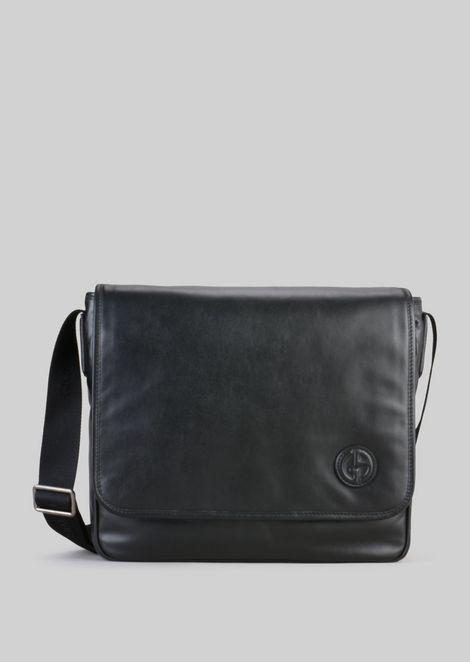 b5a560519b3 LEATHER CROSS-BODY MESSENGER BAG   Man   Giorgio Armani