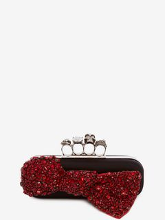 Skull Four-Ring Box Clutch