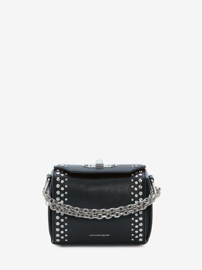 Box Bag 19 Studded Leather Shoulder Bag in Black