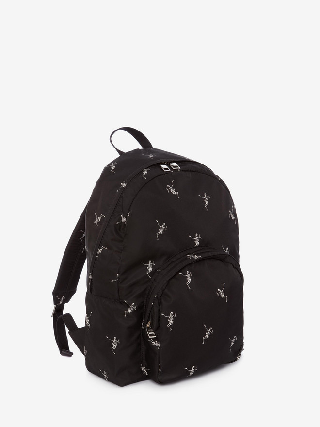 ALEXANDER MCQUEEN Small Dancing Skeleton Backpack Backpack Man r