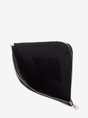 Alexander McQueen Pochette zippée en cuir 46MP8spkC