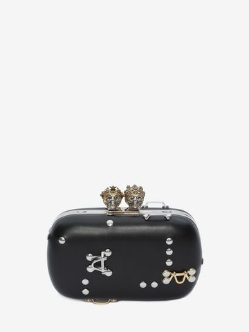ALEXANDER MCQUEEN Queen and King Skull Clutch Clutch Woman f ...