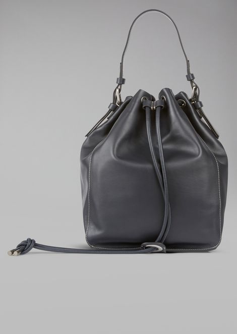 Leather Shoulder Bag for Men | Giorgio Armani | Tuggl