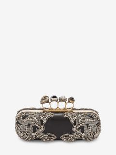 Jeweled Four-Ring Clutch