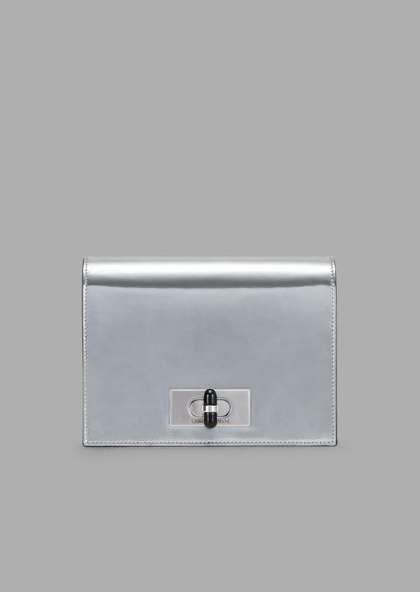 0ee21b3401 Borgonuovo 11 Metallised Patent Leather Mini Crossbody Bag for Women |  Giorgio Armani