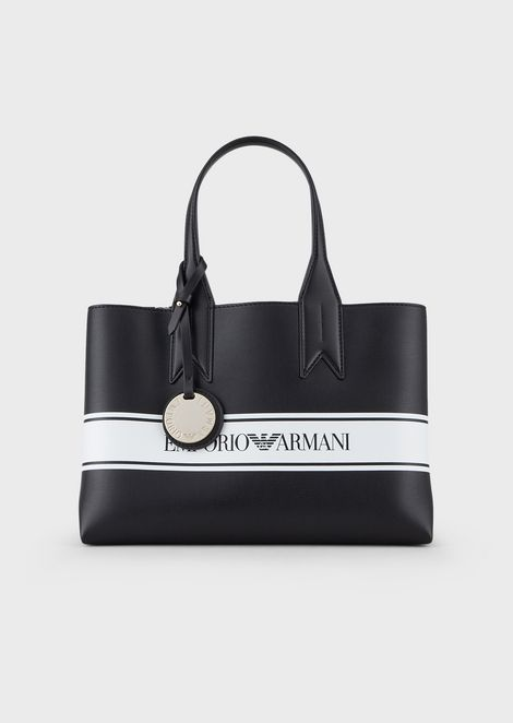 Per In Faux Na Leather With Logo