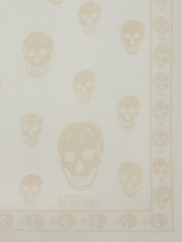 ALEXANDER MCQUEEN Classic Silk Chiffon Skull Scarf Skull Scarf D d