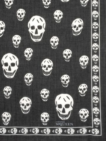 ALEXANDER MCQUEEN Classic Silk Blend Skull Scarf Foulards Skull D d