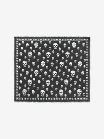 ALEXANDER MCQUEEN Classic Silk Blend Skull Scarf Foulards Skull D f