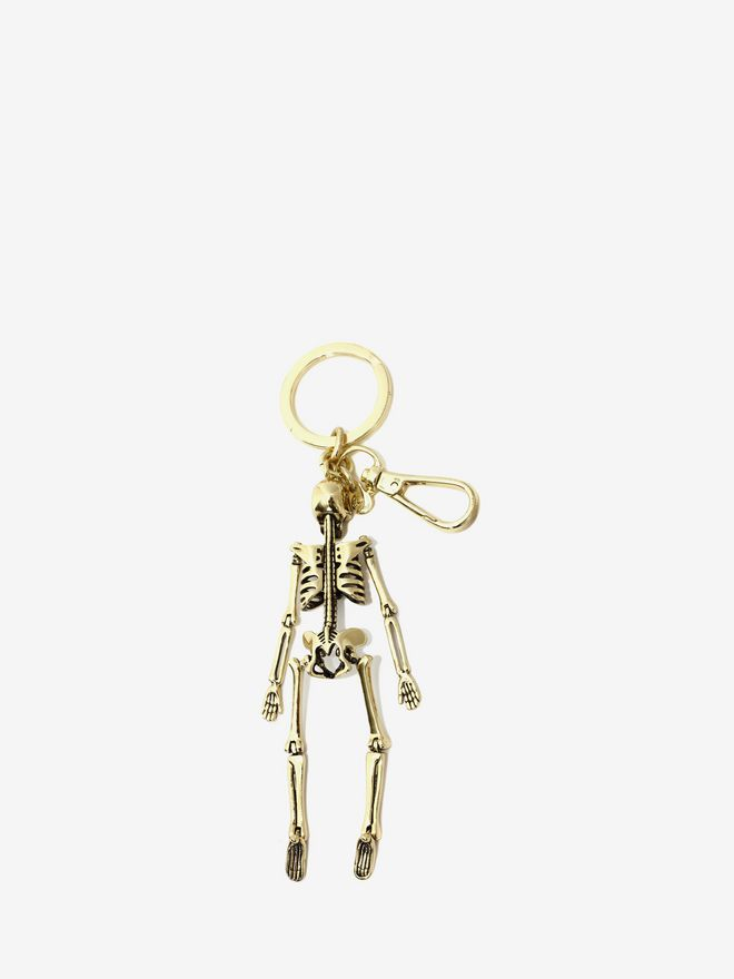 ALEXANDER MCQUEEN Skeleton Key Ring Keyring Man d