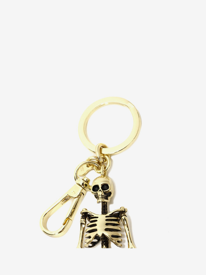 ALEXANDER MCQUEEN Skeleton Key Ring Keyring Man r