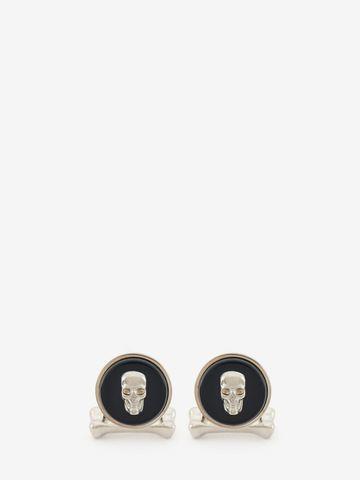 ALEXANDER MCQUEEN Boutons de manchette avec pierre Skull Bouton de manchette Homme f