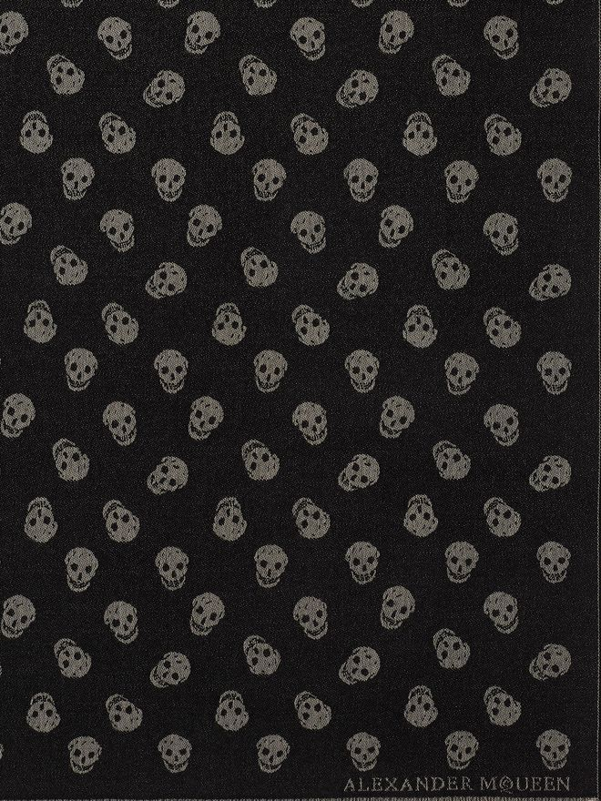 ALEXANDER MCQUEEN All Over Skull Scarf Men's Scarf U e