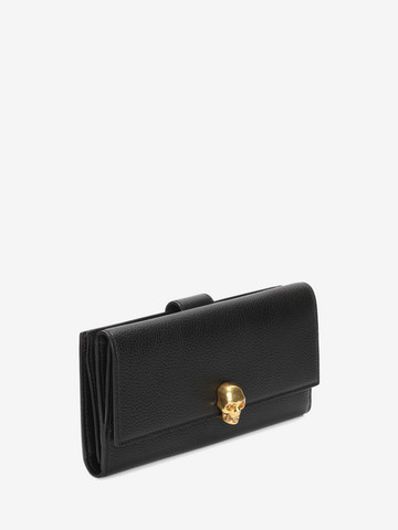 Wallet for Women, Black, Leather, 2017, One size Alexander McQueen