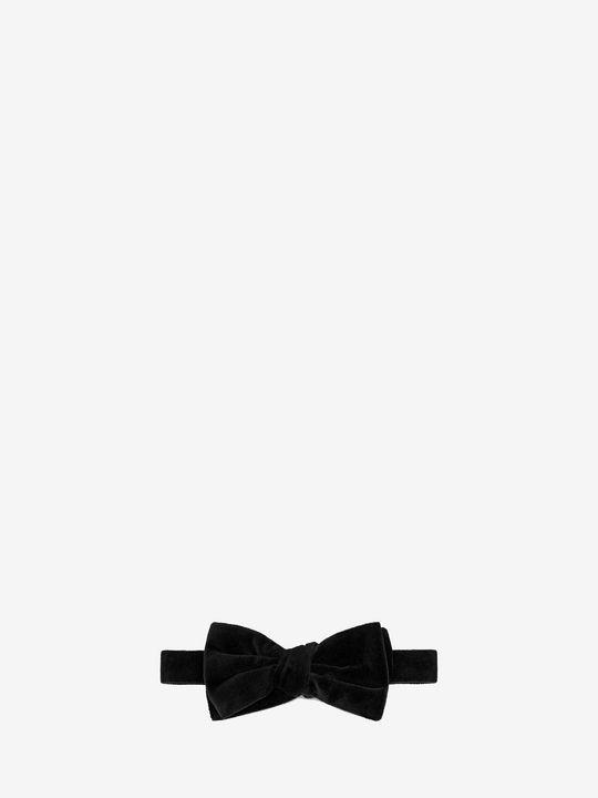 ALEXANDER MCQUEEN 领带 U 天鹅绒粒纹领结 f