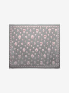 Classic Silk Chiffon Skull Scarf