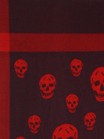 ALEXANDER MCQUEEN Large Skull Shawl Men's Scarf U d